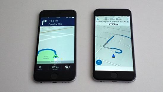 Nokia Here Maps vs Garmin Viago - Rota em curso