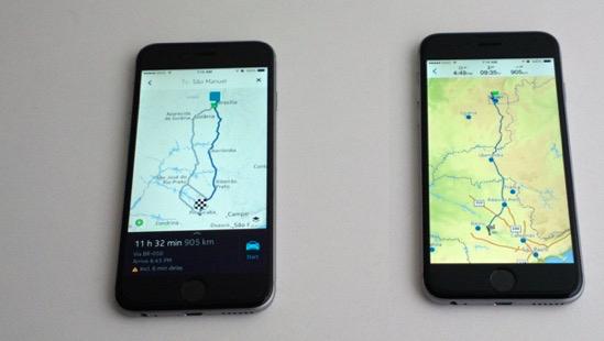 Nokia Here Maps vs Garmin Viago - Visão geral de rota