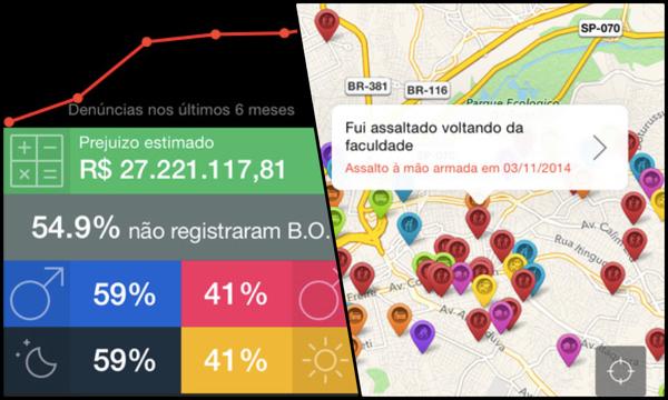 Aonde fui roubado - Informações e estatísticas criminais na tela do seu smartphone