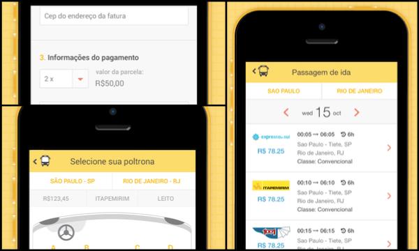 Aplicativo ClickBus permite comprar passagens de ônibus via smartphone