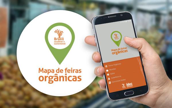 Aplicativo mostra localização de feiras orgânicas