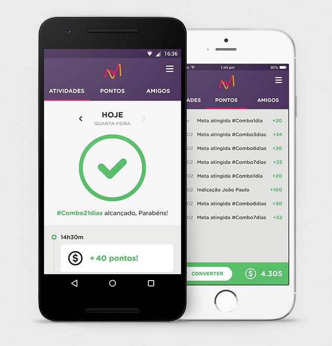 Aplicativo disponível para iOS e Android