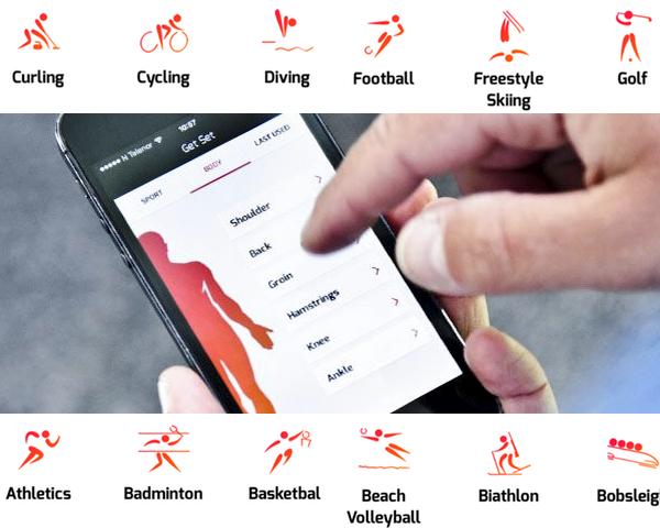 Get Set - Aplicativo ajuda a evitar lesões esportivas