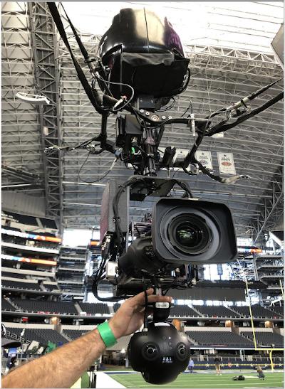 Skycam com a Insta360 Pro 2 instalada abaixo