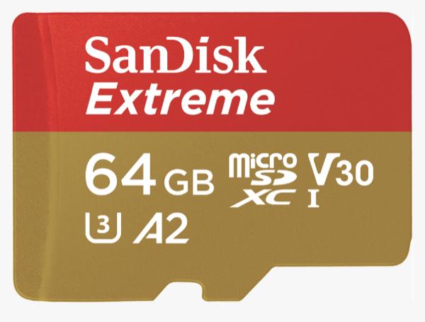 Cartão de memória SanDisk Extreme® microSDXCTM UHS-I
