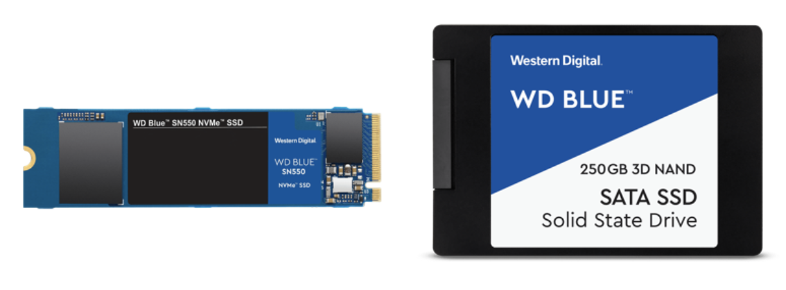 WD Blue™ SN550 NVMe™ SSD e WD Blue™ SATA SSD