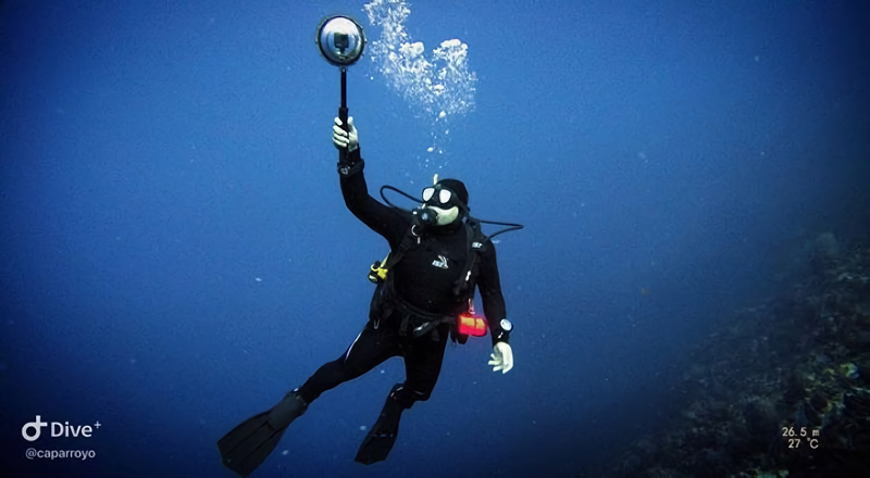 BE360 Dome - Acessório para filmar mergulhos em 360º