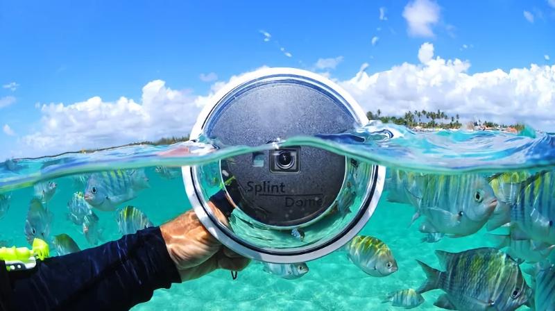 Domo convencional com uma GoPro