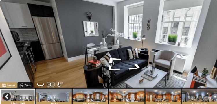 Exemplo de tour virtual criado pela LCP360