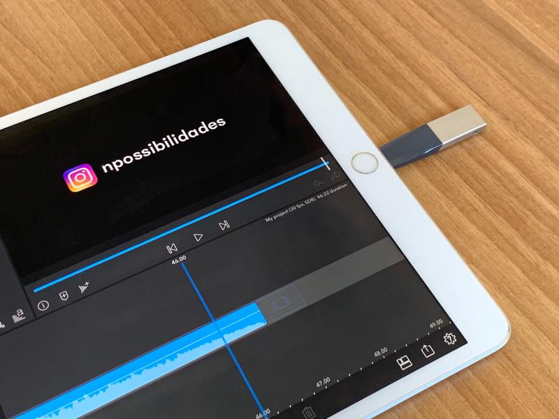 iXpand - iPad Air editando vídeo