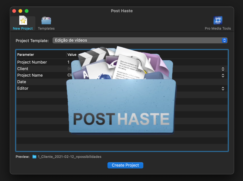 Post Hast e as boas práticas para organizar um projeto de vídeo