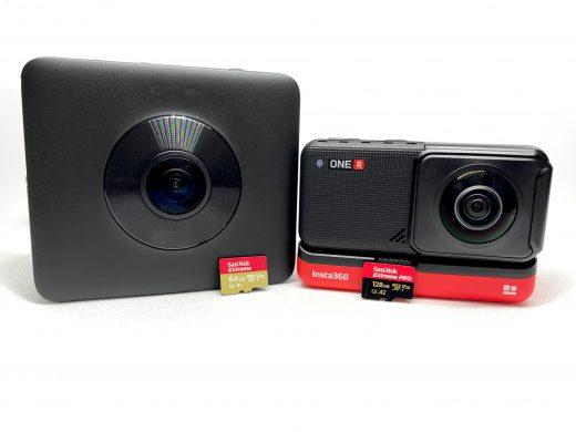 Como escolher cartões de memória para câmeras 360º