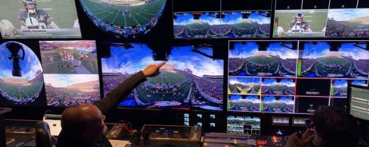 Primeira transmissão de futebol americano ao vivo em 360º com 8K de resolução