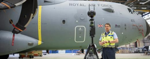 Força aérea Real e seu primeiro vídeo em 360º