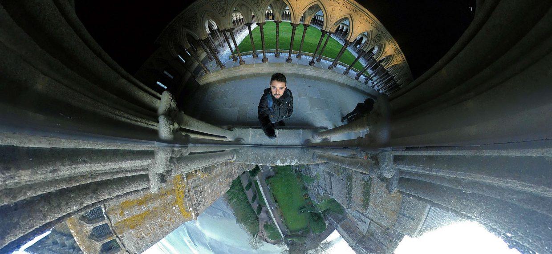 Imagem 360º captada em Monte Saint MIchel